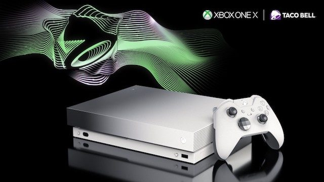 - xbox one x taco bell 640x359 - Limited Edition Xbox One X Starts Up With Taco Bell's Famous 'Ring'