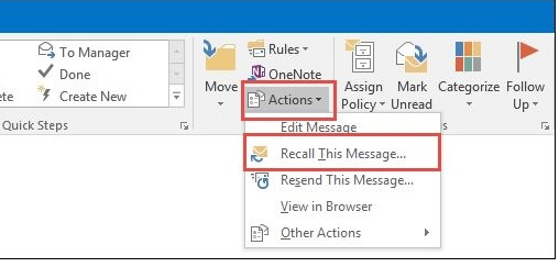 How To Recall An Email >> How To Recall An Email In Outlook Ubergizmo